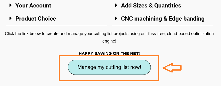 manage my cutting list now