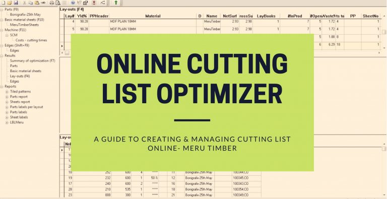 Online cutting list optimizer