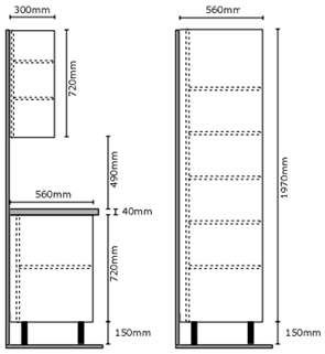 Cabinet Height, Depth and Width